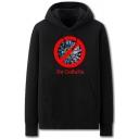 Fancy Virus Letter No Corona Printed Pocket Drawstring Long Sleeve Regular Fit Graphic Hooded Sweatshirt for Men
