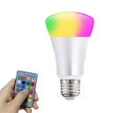 1pc 5 W E27/E14 Cone/Ball Light Bulb Color Changing RGBW Smart Control Dimmer 9 Beads LED Lamp in Silver/White