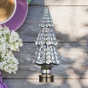 1pc Silver 4 W E27 Bulb 12 LED Beads Plastic 3/Multi-Tier Christmas Tree 3D Light Bulb