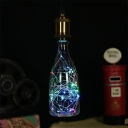 Clear Wine Bottle Lamp Bulb 1 Pack 3 W E27 40 LED Beads Plastic Multicolored Light