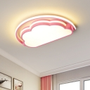Macaron LED Flush Ceiling Light with Acrylic Shade White/Pink/Blue Finish Cloud Flush Mounted Lamp