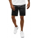 Mens Trendy Camo Printed Drawstring over the Knee Regular Fitted Track Shorts with Pockets