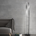 Black Finish Spiral Floor Light Contemporary LED Acrylic Stand Up Lamp in White/Warm/Natural Light