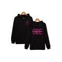 Casual Letter Ode to You Printed Zip up Pocket Drawstring Long Sleeve Regular Fit Graphic Hooded Sweatshirt for Men