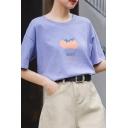 Pretty Girls Letter Juicy Tomato Graphic Short Sleeve Crew Neck Loose T Shirt  操作:杨医僮;时间:2020-07-04 09:40:18   删除