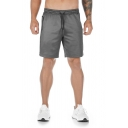 Mens Causal Solid Color Drawstring Zipper over the Knee Length Fitted Sweat Shorts with Pockets