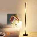 Black/White Finish Spiral Floor Lamp Simple Style LED Metallic Standing Floor Light in White/Warm Light