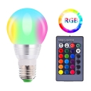 1pc 5 W E27 Globe Bulb Silver Plastic 16-Color Changing 5 LED Beads Decorative Lighting