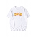 Simple Mens Fuck off Printed Short Sleeve Round Neck Loose Fitted Tee Top