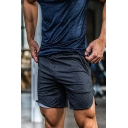 Sportive Mens Shorts Space Dye Pattern Zipper Pocket Drawstring Mid Rise Fitted Shorts