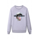 Cool Mens Character Letter Its All in Your Head Printed Pullover Long Sleeve Round Neck Regular Fitted Graphic Sweatshirt