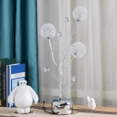 LED Table Lamp with Sphere Shade Aluminum Wire Art Deco Bedroom Tree Nightstand Lamp in Silver