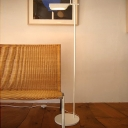 Metallic Right Angle Reading Floor Light Minimalist LED Stand Up Lamp in White/Black for Bedroom