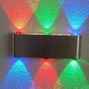 Rectangle LED Wall Mounted Lamp Simple Metal Nickel RGB Sconce Lamp for Club, 7