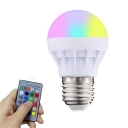 White 3 Watts E26/E27 Smart Bulb Color Changing Dimmable Plastic LED Light, Pack of 1