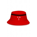 Fashionable Womens Number 1 Footprint Graphic Colorblocked Bucket Hat
