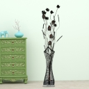 Potted Plant Bedroom Floor Standing Lamp Art Deco Aluminum Wire Black/Red/Yellow Finish LED Floor Light