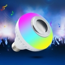 White Bluetooth Music Bulb RGBW 5 W E27 24 LED Beads Plastic Reflector Lamp with Remote, 1 Pack