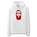 Cool Mens Character Pattern Letter Mvp Pocket Drawstring Long Sleeve Regular Fit Graphic Hooded Sweatshirt