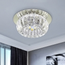 Round Corridor Flushmount Lamp Clear Crystal Glass LED Modernist Ceiling Flush Mount