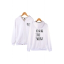 Simple Mens Letter Ode to You Printed Zip up Pocket Drawstring Long Sleeve Regular Fit Graphic Hooded Sweatshirt