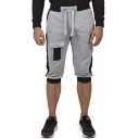 Stylish Mens Color Block Drawstring Pocket Longline Regular Fit Shorts
