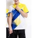 Fashion Colorblocked Short Sleeve Outdoor Sport Breathable Dri-Fit Unisex Polo Shirt & Relaxed Shorts Co-Ords in Black