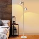 Metallic Bell Standing Floor Light Modernist 2/3 Lights White Finish Tree Floor Lamp