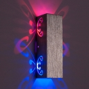 2/6 Watts Modernist RGB LED Wall Lamp Silver Hollowed Out Butterflies Sconce Lighting with Aluminum Shade