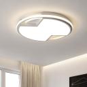 Nordic Hourglass Thin Ceiling Fixture Iron Bedroom 16.5