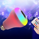 1pc Remote Control 18 W E27 Reflector White Plastic 48 LED Beads Bulb with Bluetooth Speaker