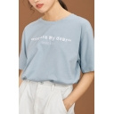 Fashion Girls Letter You Are My Dear Print Short Sleeve Crew Neck Relaxed T-shirt