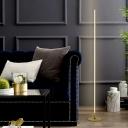 Linear Standing Floor Light Minimalism Metal LED Bedroom Floor Lamp in Gold, White/Warm Light
