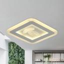 Round/Square Ultrathin Foyer Flush Light Acrylic Nordic 8