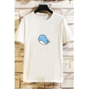 Mens Cute T-Shirt Dolphin Print Crew Neck Short Sleeve Fitted T-Shirt