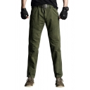 Men's Personalized Fashion Green Denim-washed Zip-fly Retro Jeans