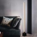 Acrylic Linear Floor Lighting Simple LED Floor Stand Lamp in White/Black Finish for Living Room
