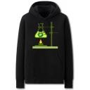 Stylish Mens Virus Chemical Vessels Pattern Pocket Drawstring Long Sleeve Regular Fit Graphic Hooded Sweatshirt