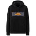 Creative Mens Keyboard Letter Fuck Viruses Printed Pocket Drawstring Long Sleeve Regular Fit Graphic Hooded Sweatshirt