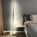Spiral Line Acrylic Floor Light Modernism White/Black/Gold LED Floor Standing Lamp in White/Warm Light