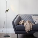 Metal Tube Floor Standing Light Modernism LED Black-Gold Floor Lamp for Living Room
