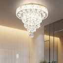 Teardrop Clear Crystal Flushmount Lamp Modernist LED Flush Mount Ceiling Light for Hallway