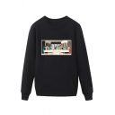 Cool Mens Character Pattern Pullover Long Sleeve Round Neck Regular Fit Sweatshirt