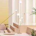 Postmodern Tree Floor Light Metallic 5-Light Stairway LED Standing Floor Lamp in Gold