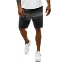 Stylish Men's Ombre Drawstring over the Knee Regular Fit Track Shorts with Pocket