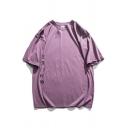 Fashion Boys Rabbit Astronaut Printed Half Sleeve Crew Neck Drop Shoulder Loose Fit T Shirt