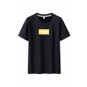 Street Mens Arrow Printed Short Sleeve Round Neck Relaxed Fit Tee Top