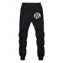 Unisex Drawstring Waist Comfort Cotton Loose Sweatpants