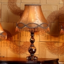 Countryside Empire Shade Desk Lamp with Fringes Design 13