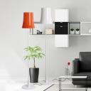 Bell Shade Reading Floor Light Modern Metal 1 Bulb Living Room Floor Lamp in White/Orange